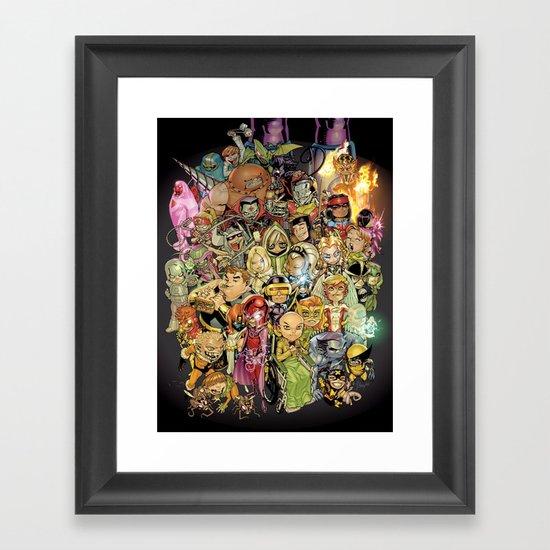 Lil' X Framed Art Print