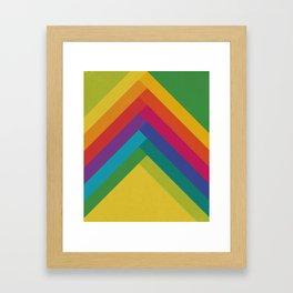 Bright Summer Lines Framed Art Print
