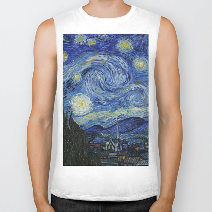 Starry Night by Vincent van Gogh Biker Tank