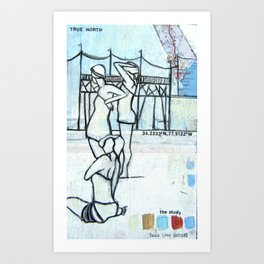 Bathers - Study Art Print