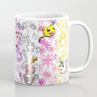 digimon Mugs featuring Digimon 15th Anniversary by AbigailC