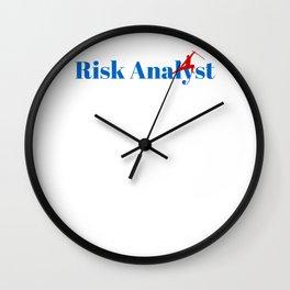 Risk Analyst Ninja in Action Wall Clock