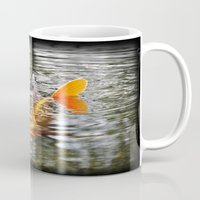 koi fish Mugs featuring Koi Fish by Aldari Photo