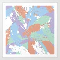 Pastel Paint Art Print