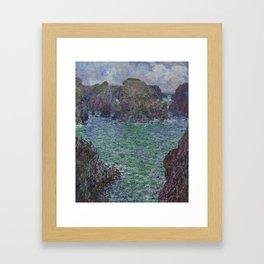 Belle-Ile by Claude Monet Framed Art Print