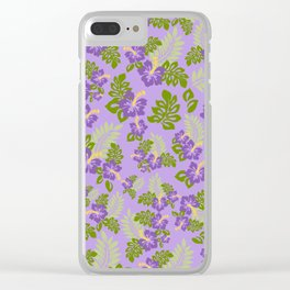 Hawaiian Pattern - Purple Clear iPhone Case