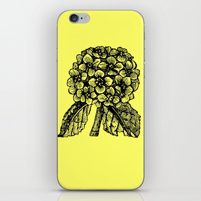 Yellow Hydrangea iPhone Skin