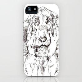 Sad Bloodhound iPhone Case