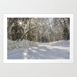 Covered in White Art Print