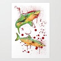 Mako Sharks Art Print