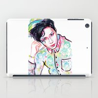shinee iPad Cases featuring SHINee Taemin Colorful by sophillustration
