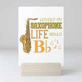 Saxophone Joke Mini Art Print
