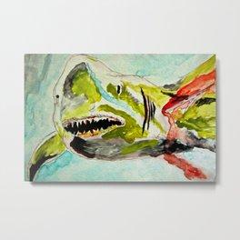 Shark Week - Attacked and bleeding Metal Print