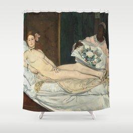 Olympia, Édouard Manet Shower Curtain