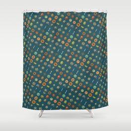 Ernst Haeckel's Undersea Jewels Shower Curtain