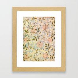 12,000pixel-500dpi - William Morris - jasmine - Digital Remastered Edition Framed Art Print