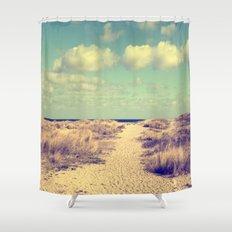 Beach whisper Impression Shower Curtain