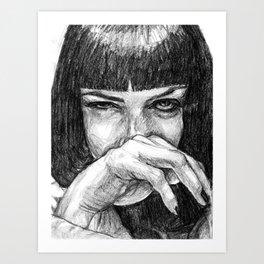 I said, god damn! Art Print