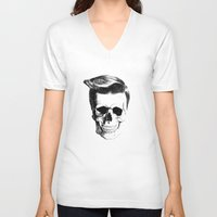 rock n roll V-neck T-shirts featuring Rock n Roll by Andre Heydra
