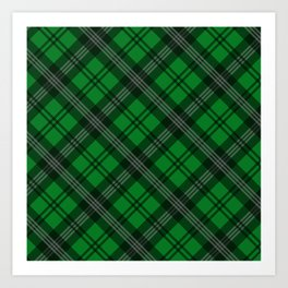Scottish Plaid-Green Art Print