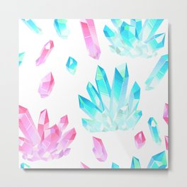 Crystals Illustration Metal Print