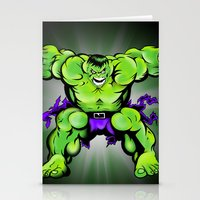 hulk Stationery Cards featuring Hulk by Liam Sweeney