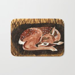 Before the First Snow (Fawn/ White tailed Deer) Bath Mat