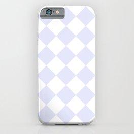 HARLEQUIN (LAVENDER & WHITE) iPhone Case