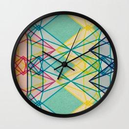 Diamonds CMYK Wall Clock