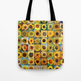 Sunflower Montage Tote Bag