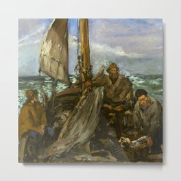 """Édouard Manet """"The Toilers of the Sea"""" Metal Print"""
