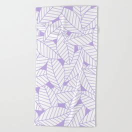 Leaves in Lavender Beach Towel