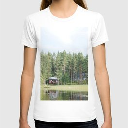 Cabin by the lake in Finland T-shirt