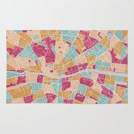 Dublin map, Ireland Rug