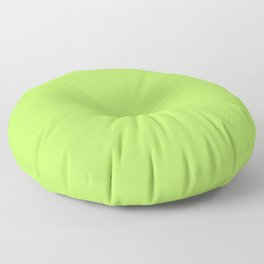 From The Crayon Box – Inch Worm Green - Bright Lime Green Solid Color Floor Pillow