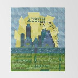 I love Austin, TX Throw Blanket