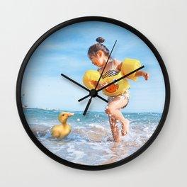 Ducks on the Beach Wall Clock