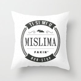 Mislim na tebe Throw Pillow