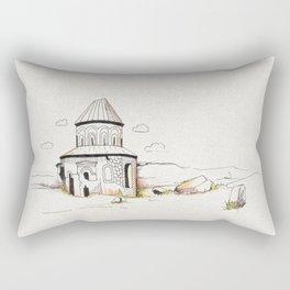 armenian church in ani Rectangular Pillow