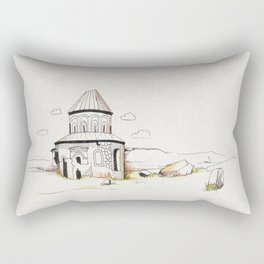 armenian church in ani Rectangular Pillow