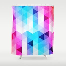 Abstract Triangle Colorful Shower Curtain