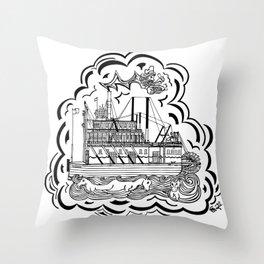 SS Klondike Gold Panner Throw Pillow