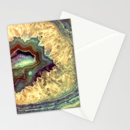 Colorful Earth Tones Quartz Crystal Stationery Cards