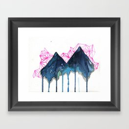 it isn't the first time (mountainscape) Framed Art Print