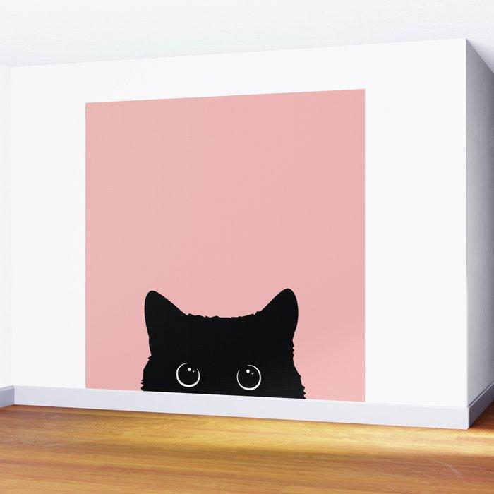 Black Cat Wall Mural
