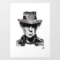 neil young Art Prints featuring Neil Young by Be Sound Art