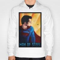 man of steel Hoodies featuring Man of Steel by sevillaseas