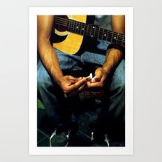 Strings Art Print