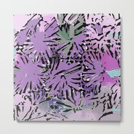 The Garden in Shades of Purple and Pink Metal Print
