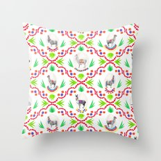 A Llama Folk Tale Throw Pillow